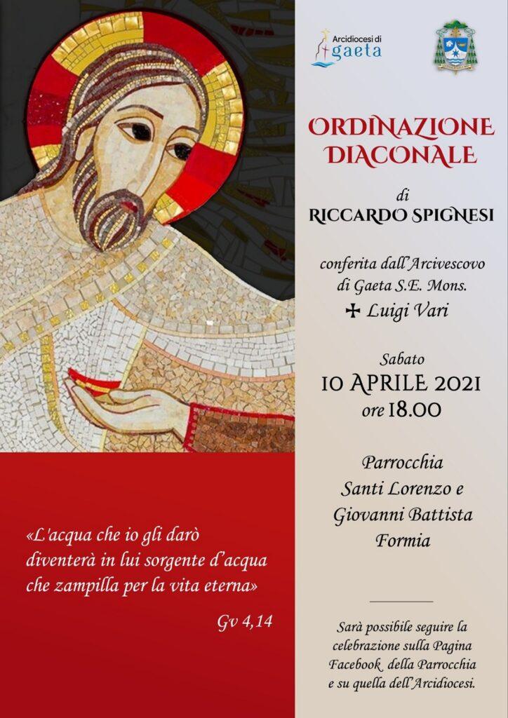 Ordinazione diaconale Riccardo Spignesi
